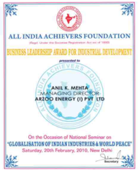 All India Achiever Foundation Certificates