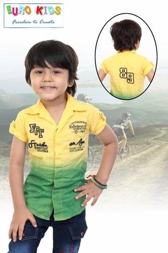 8cafc0566 Kids Cotton Shirts at Rs 400 /onwards | Children Shirt - Euro Kids ...