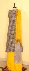 Jaipur Cotton With Chiffon Dupatta Suit Set