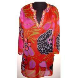 Designer Flower Print  Dress