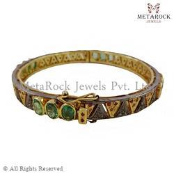 Emerald Gemstone Designer Bangle