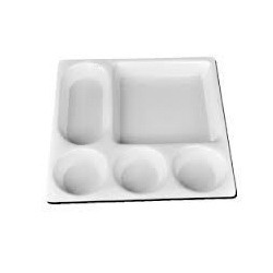 Acrylic Five Portion Tray with Chapati Plate