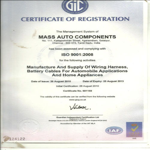 Mass Auto Components - Manufacturer from Vandalur, Chennai, India