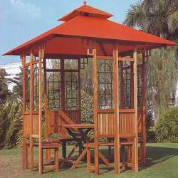 Wooden Gazebo and Loungers