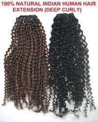 Human Hair Extension Deep Curly