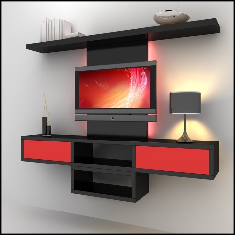 designer tv wall units krishna kitchen decor manufacturer in - Designer Wall Unit