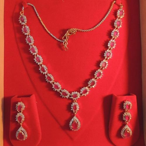 Ruby Diamond Necklaces Diamond Necklaces Singanpor