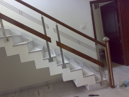 Stainless Steel Stairs Glass Railing