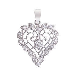 925 Sterling Silver Pendant Floral