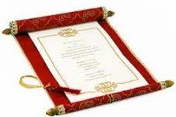 Scroll Invitation Card in Jaipur Rajasthan Scroll Invitation