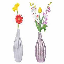 Polished Aluminium Flower Vase