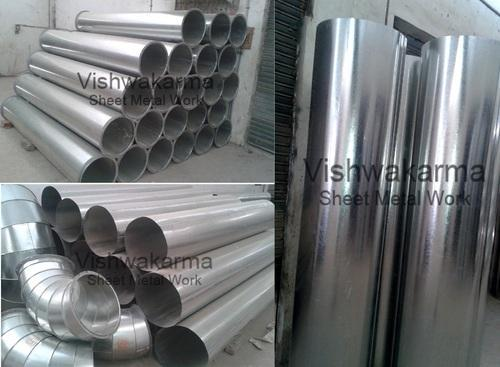 Sheet Metal Ducting Fitting Fabricated Round Duct Pipe