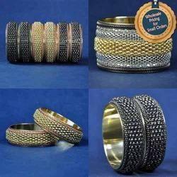 Brass Designer Bangles Bracelets - Inter-locked Chains