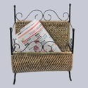 Wicker Woven Magazine Holder