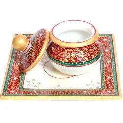 Marble Pooja Plate