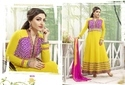 Georgette Yellow Color Salwar Kameez, Size: XL
