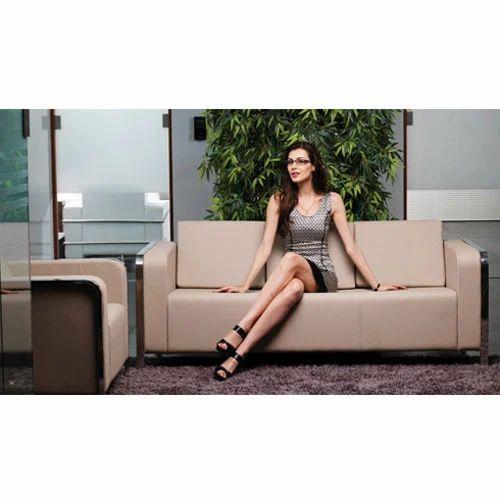 Luxury Leather Office Sofa