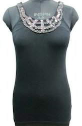 Ladies Knitted Top With Embroidery