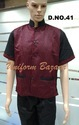 Maroon Colour Restaurant Uniform