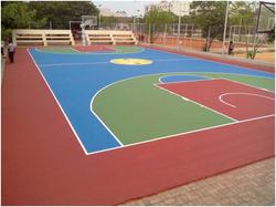 Tiger Blue Synthetic Basketball Court Flooring