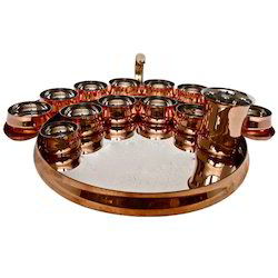 Grand Maurya Copper Thali Set