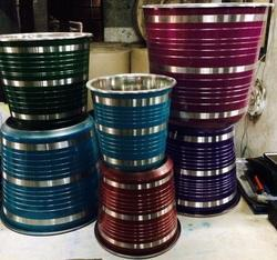 Stainless Steel Color Buckets