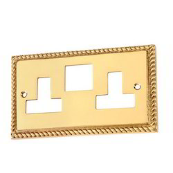 Georgian Gang Switch Socket Plate