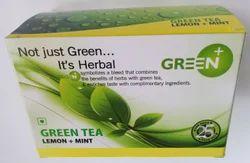 Green Mint and Lemon Tea