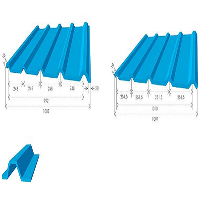 Building Components Trapezoidal Metal Roofing Sheets