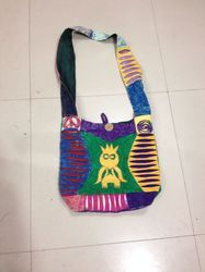 Embroidered Shoulder Cotton Patch Bag