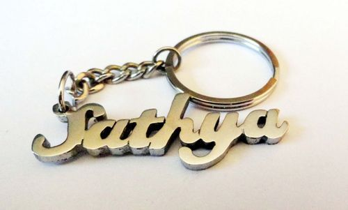 your name key chain in metal metal keychain annapurna sons