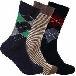 Men Self Design Crew Length Socks