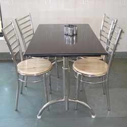 Dinning Table And Chairs Stainless Steel Wooden Chairs
