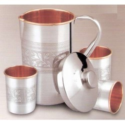 Copper Steel Embossed Lemon Set