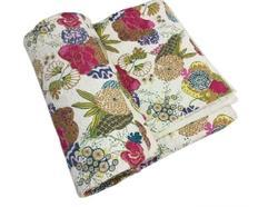 Quilt Cotton Tropicana Printed machine quilted