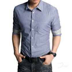 Mens Striped Shirts - Gents Stripped Shirts Suppliers, Traders ...