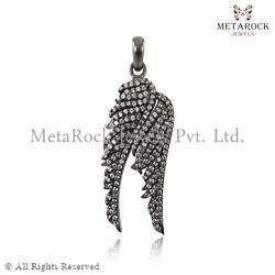 Designer Feather Angle Wings Pendant