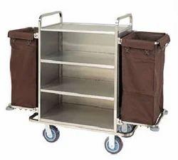 Alsha MS Powder Coating Hotel Luggage Trolley, Model: Cart