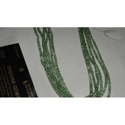 Green Color Coated Crystal Cut Beads