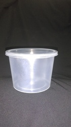 Disposable Transparent Round Container 500 Ml
