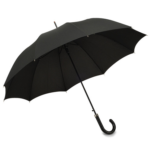 Black Plain Umbrella, Size: Stander