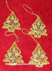 embroidery hanging christmas ornaments
