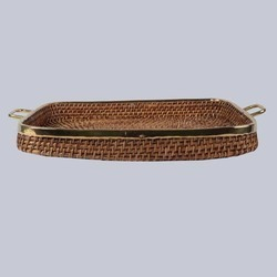 Rectangular Wicker Tray