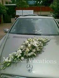 Wedding car rental car decoration service provider from ernakulam car decoration junglespirit Image collections