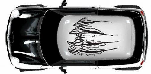 Car roof vinyl sticker