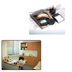 Leather Stationery Holder for Office