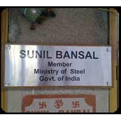 Stainless Steel Name Plate Banners Signs Nameplates
