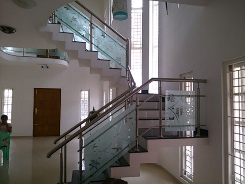 Ss Stainless Steel Railings With Glass Rs 1150 Running Feet
