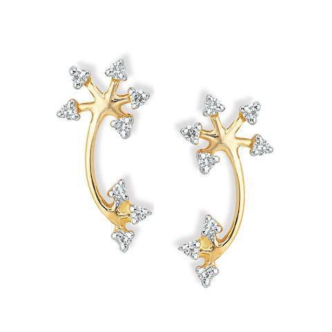 Fl Tanishq Gold Earrings