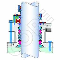 double seal cartridge unit for glass line reactor